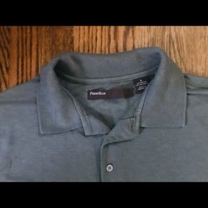 PERRY ELLIS olive green polo